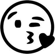 Emoticon knipoog kus