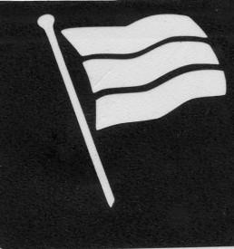 glitter tattoo vlag