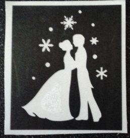 glitter tattoo dansen in sneeuw