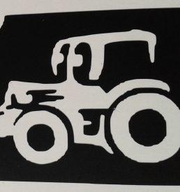 glitter tattoo traktor
