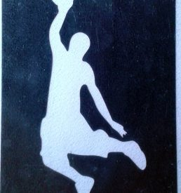 Glittertattoo basketballer