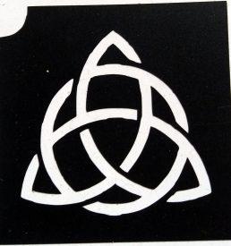 glitter tattoo keltische knoop