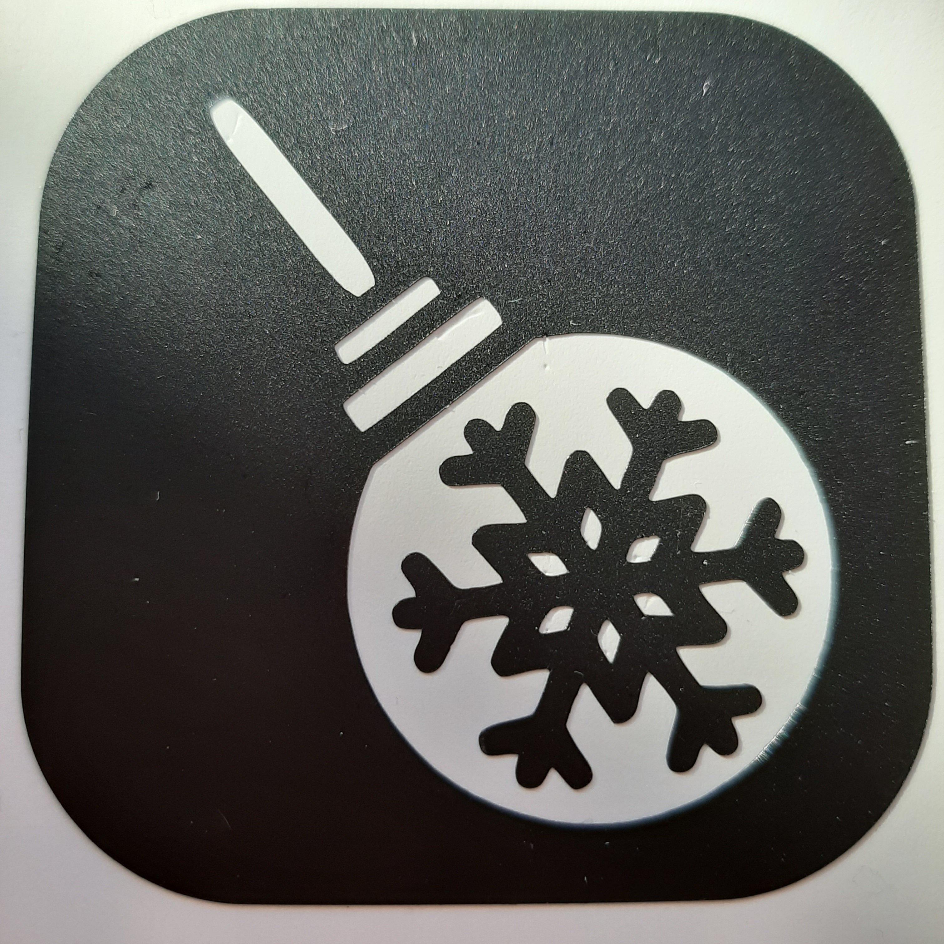 kerstbal sneeuwvlok
