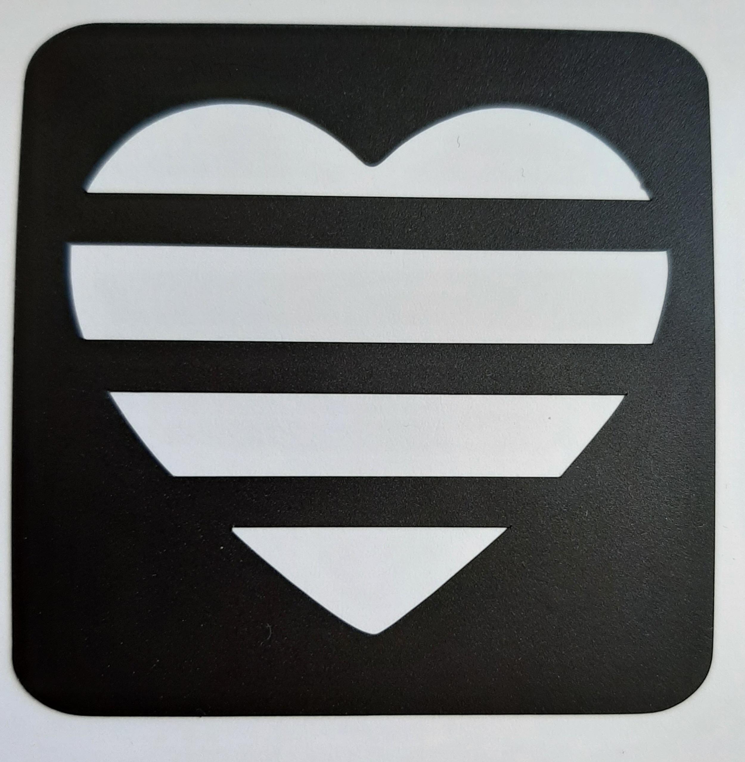 vlag hart 4 lijnen